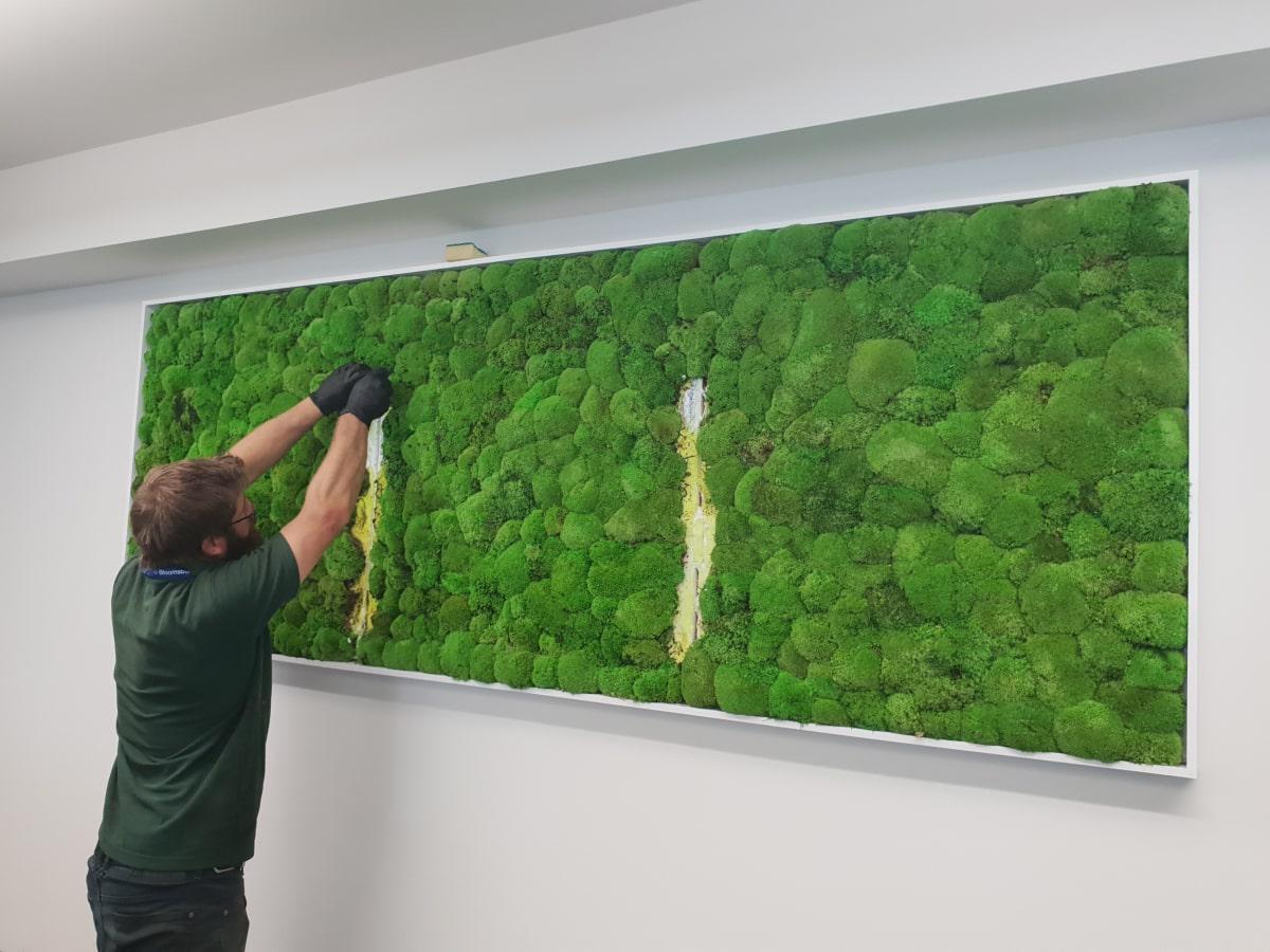 Optimized CONSTRUCTION artificial moss wall min